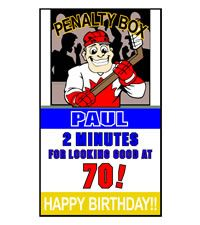 Click on Hockey Red and White Lawn Card. #party #ideas  http://www.hellopink.ca/lawncards.php#  Rent this birthday lawn sign for only $90.00. Toronto and surrounding areas only.