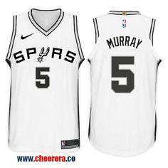 Men s Nike NBA San Antonio Spurs  5 Dejounte Murray Jersey 2017 18 New  Season White 324d20e73