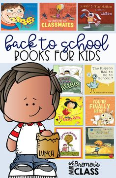 Favorite Back to School books for the classroom, perfect for the first day of school. These books are great read alouds to begin the school year in Kindergarten and First Grade. They cover topics like first day jitters, tattling, bullying, classroom behavior, self-regulation, & excitement and fears about going to school. Guided Reading Activities, Back To School Activities, 2nd Grade Reading, Kindergarten Reading, Back To School Pictures, The Kissing Hand, Classroom Behavior, Book Study, New Students