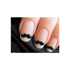 Nail Idea: Cute Little Mustaches At Your Fingertips (Here's The How-To Video): Girls in the Beauty Department: Beauty: glamour.com