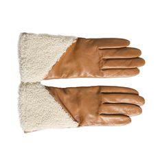 f712d30471c60 UGG Asymmetrical Smart Curly Chestnut Gloves - Woman s