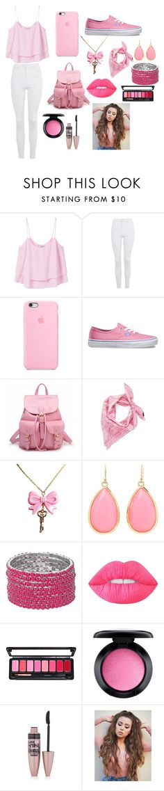 """Pink"" by justsomerandomgirl74 ❤ liked on Polyvore featuring MANGO, Topshop, Vans, Echo, Kate Spade, Lime Crime, MAC Cosmetics and Maybelline"