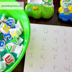 Letter Learning Activity for Preschoolers