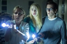 Kevin Bacon, Radha Mitchell and Lucy Fry in The Darkness (2016)