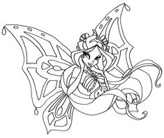 winx club witches coloring pages - photo#24