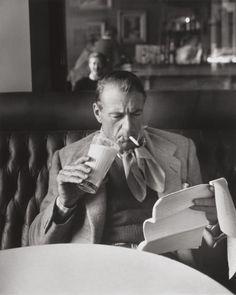 • Drinking milk. Smoking. Reading script. • GARY COOPER (1901-1961) •
