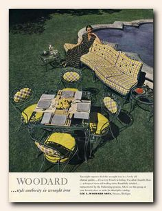 SISTERS ANTIQUES  catalog of vintage patio  Woodard 1949 Chantilly Rose