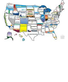 State Sticker Map - State Stickers 300 - Travel Accessories - Camping World