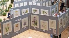 exhibition of plants at the RHS Botanical Art Show Feb 2015 Portable Display, Art Stand, Botanical Art, Room Set, Floral Watercolor, Wedding Stationery, Toy Chest, Photo Wall, Display Ideas