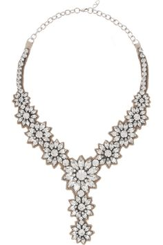 Valentino | Flower Stones Swarovski crystal necklace
