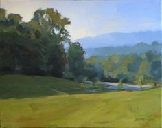 """Field at Pinchot Forest"" (South Asheville, NC) 11 x 14 