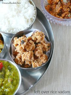 It's not a koozh vadagam as it is not ground to a smooth paste,it's a simple killu vathal recipe with left over rice.This simple vadam Indian Snacks, Indian Food Recipes, Asian Recipes, Vegetarian Recipes, Snack Recipes, Cooking Recipes, Ethnic Recipes, Leftover Rice, Curry Leaves