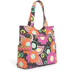 Vera Bradley Pleated Tote Bag NWTS Vera Bradley Pleated Tote bag/ Ziggy Zinnia Pattern/ New with Retail Price Tag/ Details in Photo #2 Vera Bradley Bags Totes