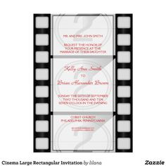 Wedding invitations on pinterest fall wedding for Film premiere invitation template