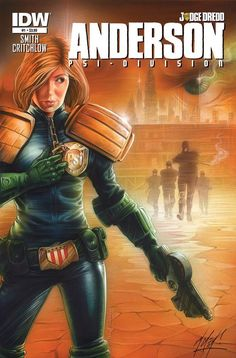 Judge Dredd: Anderson, Psi-Division - Comics by comiXology Comic Book Characters, Comic Character, Comic Books, Judge Dread, 2000ad Comic, Avatar, Female Cop, Comic Art Girls, New Adventures