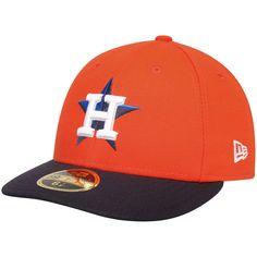 Men's Houston Astros New Era Orange 2017 Postseason Side Patch Low Profile 59FIFTY Fitted Hat
