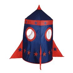 Play Tent - Rocket $79.99   Imagine you creative child's mind, and offer him or her something to make it go even wilder.......  These awesome Play Tents, will evoke your child imagination, and I am sure many a story could be created with their imagination running wild.....  They are easily assembled and ready to go for fun play.