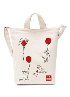 """""""Cat vs Balloon"""" BAGGU Canvas Duck bag A perfect everyday tote in durable recycled cotton canvas duck. Two handles and adjustable strap, to carry in hand or Diy Tote Bag, Reusable Tote Bags, Nemo, Cotton Bag, Cotton Canvas, Jute Bags, Linen Bag, Cat Lover Gifts, Designer"""