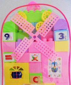 Baby School Bag Building Blocks Toys Type:Blocks.  #JSR #BabyProduct