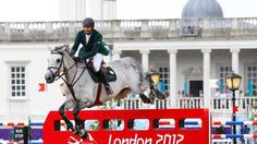 HRHPrince Abdullah Al Saud of Saudi Arabia riding Davos competes in the second qualifier of Individual Jumping on Day 9 of the London 2012 Olympic Games at Greenwich Park.