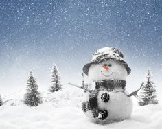 Windows 8 Winter Snowman Nature Wallpaper