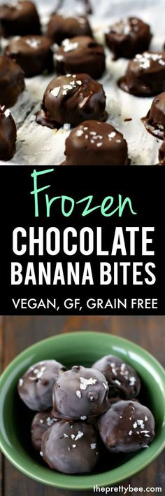 These frozen chocolate banana bites are a deliciously healthy treat for summer! These are gluten free, vegan, and grain free! #vegan #dairyfree #dessert #nobake #glutenfree