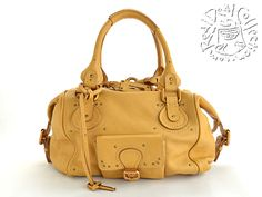 757194e3ee6 Chloe Leather Handbag 2006 Jaune Yellow Front Pocket Paddington Satchel Tote