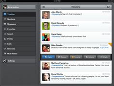 Tweetbot iPad app rocks.  Faster than the rest.