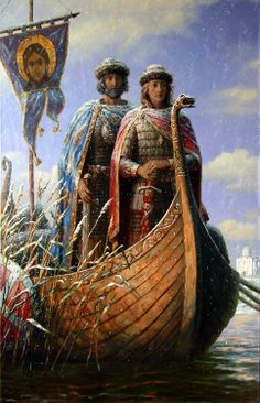 Saint Boris and Gleb during the internecine wars of Russia Rome History, History Facts, Art History, Russian Painting, Russian Art, Roman Empire Facts, Pictures Of Russia, Painting Digital, Empire Wallpaper