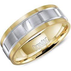 CROWN RING – 7MM 14K TWO TONE #WB-8085 #mens #wedding