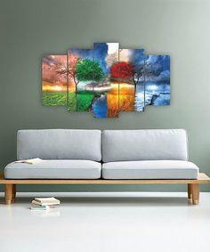 Carsberg Home Four Seasons Five-Panel Wall Art | zulily