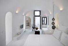 19th Century Sea Captain's Home Converted into Modern Santorini Cave - My Modern Met