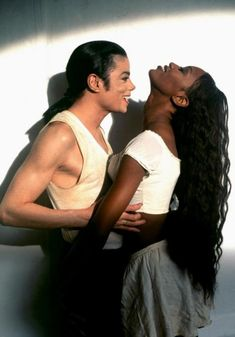 Michael Jackson and Naomi Campbell, photo by Herb Ritts