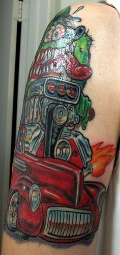 hot rod monster tattoo by jack at fate tattoo in columbus ohio tattoos pinterest lakes. Black Bedroom Furniture Sets. Home Design Ideas