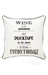 Levtex 'Wine & Ducktape' Pillow