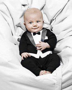 the tuxedo babygrow by carry me home   notonthehighstreet.com