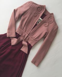 Outfit planning for Paris 🥀🎀 Dusty Rose swirly jacket from my favorite  1930s dress set bf4184ffe08