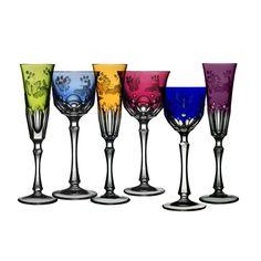 Springtime Colored Crystal Stemware | Gracious Style