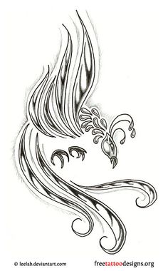 Phoenix tattoo. I'm not crazy about the face, but the posture is wicked. For Jenn