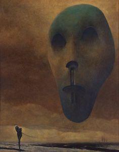 Zdzisław Beksiński - Nightmarish Surrealism - Oedipus's World in Blindness Fantasy Kunst, Dark Fantasy Art, Creepy Art, Weird Art, Arte Horror, Horror Art, Art And Illustration, Illustrations, Kunst Tattoos