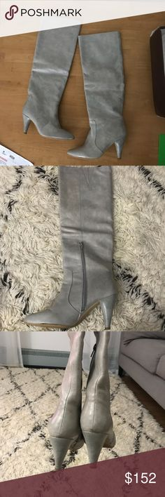 Jeffrey Campbell knee boots Sexy Heather grey, excellent condition, looks stunning with white jeans🚫no trades🚫 Jeffrey Campbell Shoes