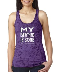 16a32705f1 AmazonSmile: Orange Arrow Womens Workout Tanks - My Everything Is Sore -  Tops With Sayings · Crossfit TanksFitness ...