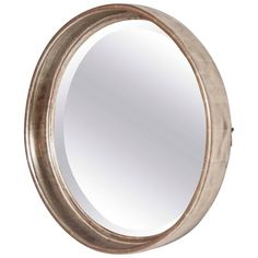 Art Deco Deep Round Mirror by Paul Frankl | From a unique collection of antique and modern wall mirrors at https://www.1stdibs.com/furniture/mirrors/wall-mirrors/
