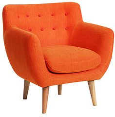 Coogee armchair Orange Vintage - Fashion, Home, Cars, Interiors and Nostalgia For Kate Beavis