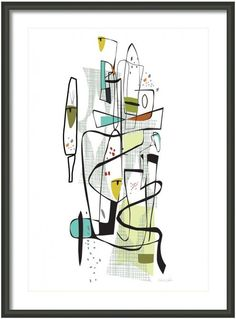 Fairview 1953 11x14 a Mid Century Modern print signed by EdwinWade