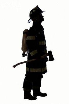 Silhouette of Fireman