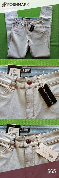 "NEUW Vintage Skinny Jeans Size 7R (25/32) BNWT! NEUW Vintage Skinny Jeans in Size 7R (25""W/32""L) - Color: Flat Beach denim wash - Brand New with All Tags - My husband bought them for me from a boutique in Charlotte, NC during a visit - Unfortunately, I am just under 5' tall, and if I hemmed them to fit me, I'd have to give up the majority of that cool seam detailing down the back of the legs (see photo).  In good conscience,  I can't massacre this fun feature.  #Shortchickproblems THANKS FOR…"