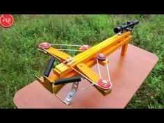 How to Make an Compound Crossbow Flipper Homemade Crossbow, Diy Crossbow, Compound Crossbow, Besta, Mechanical Power, Recurve Bows, Slingshot, Tactical Gear, Outdoor Power Equipment