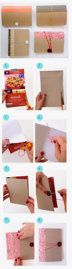 Diy Mini Notebook From Cereal Box