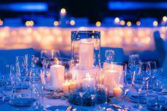 Beautiful winter wonderland wedding decoration